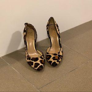 BCBG Paris dorsay heels leopard cheetah print
